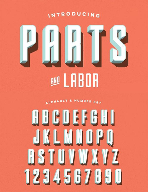 Parts & Labor - Layered Font