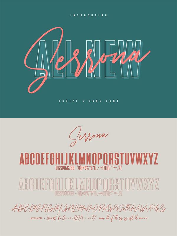 Serrona Script Font