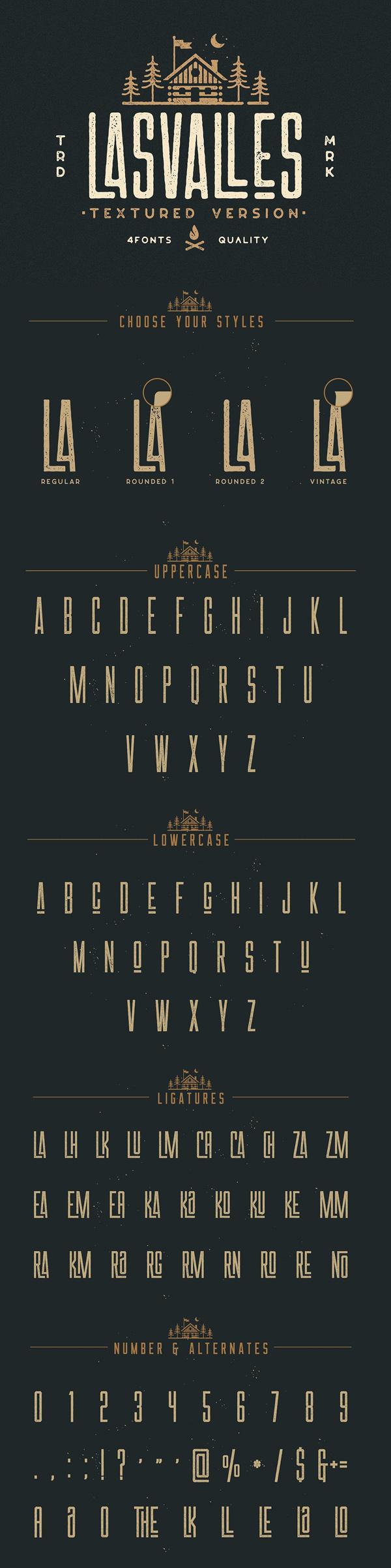 Las Valles Textured Typeface