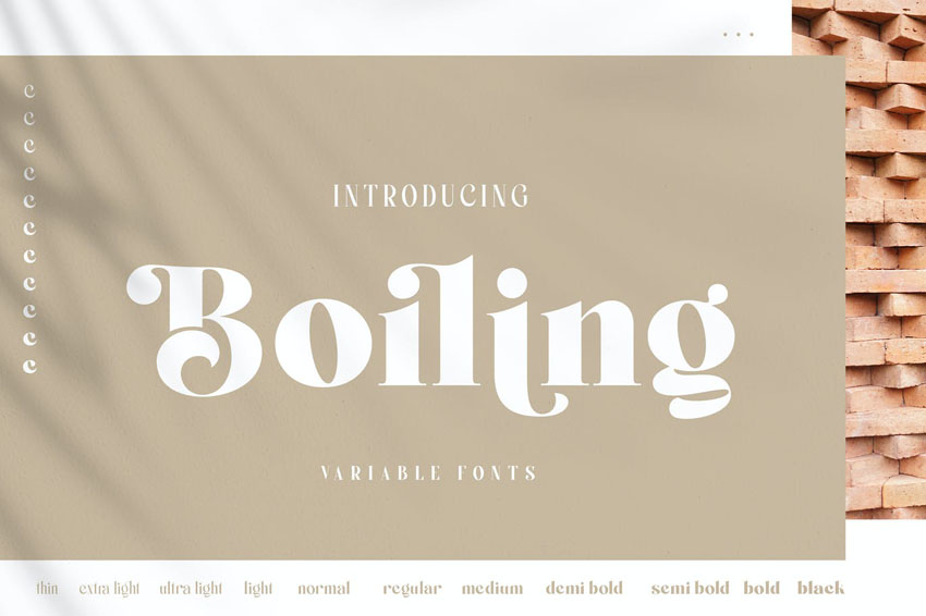 Boiling Font Family Thick Inspired Didot Typeface