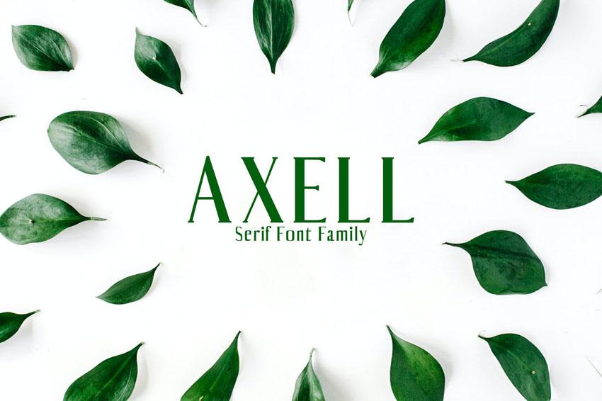 Axell Serif Font Family