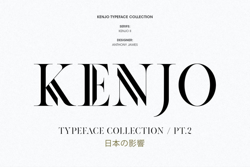 Kenjo Font Inspired Didone Typefaces
