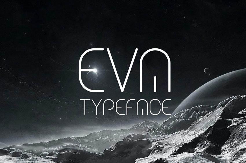 Eva Futuristic Typeface