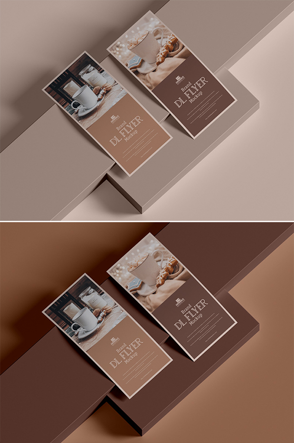 Free Creative Attractive Brand Flyer Mockup
