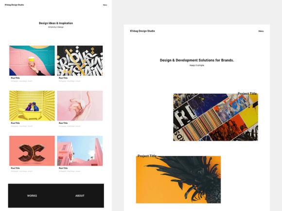 K!sbag: Free minimal portfolio template