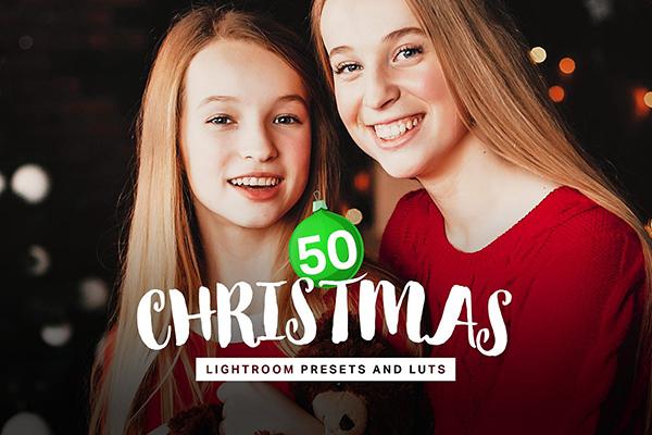50 Christmas Lightroom Presets LUTs