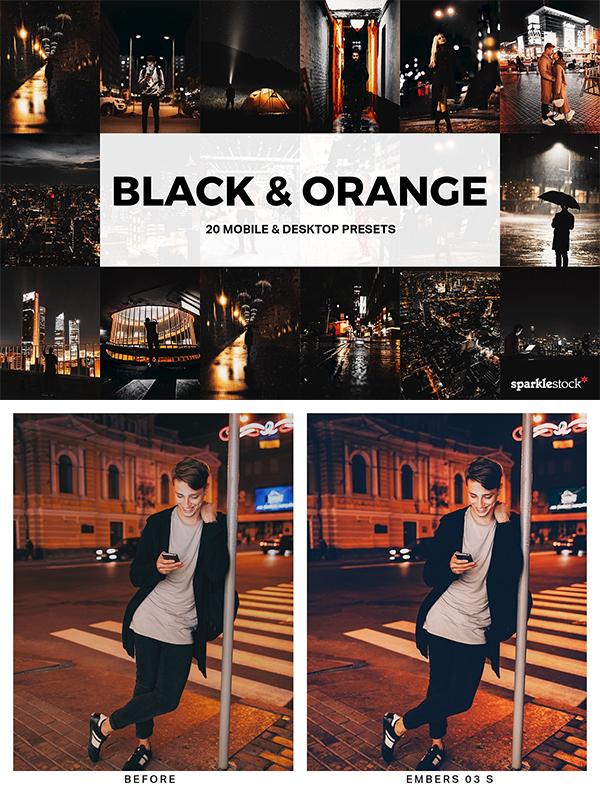 Black & Orange Lightroom Presets