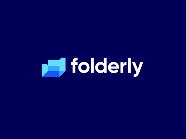 Folderly modern technology Logo design by uxboss