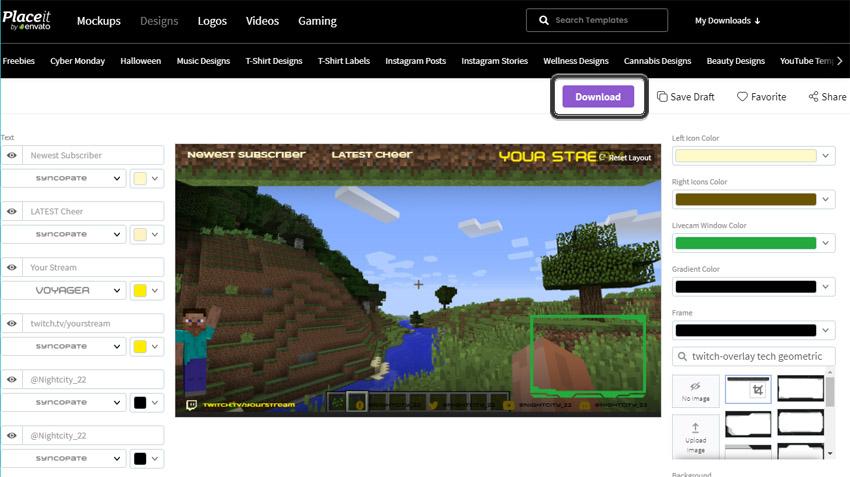 custom online twitch overlay maker