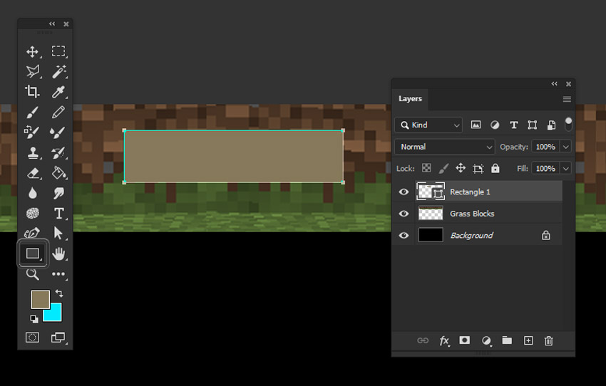 photoshop rectangle tool