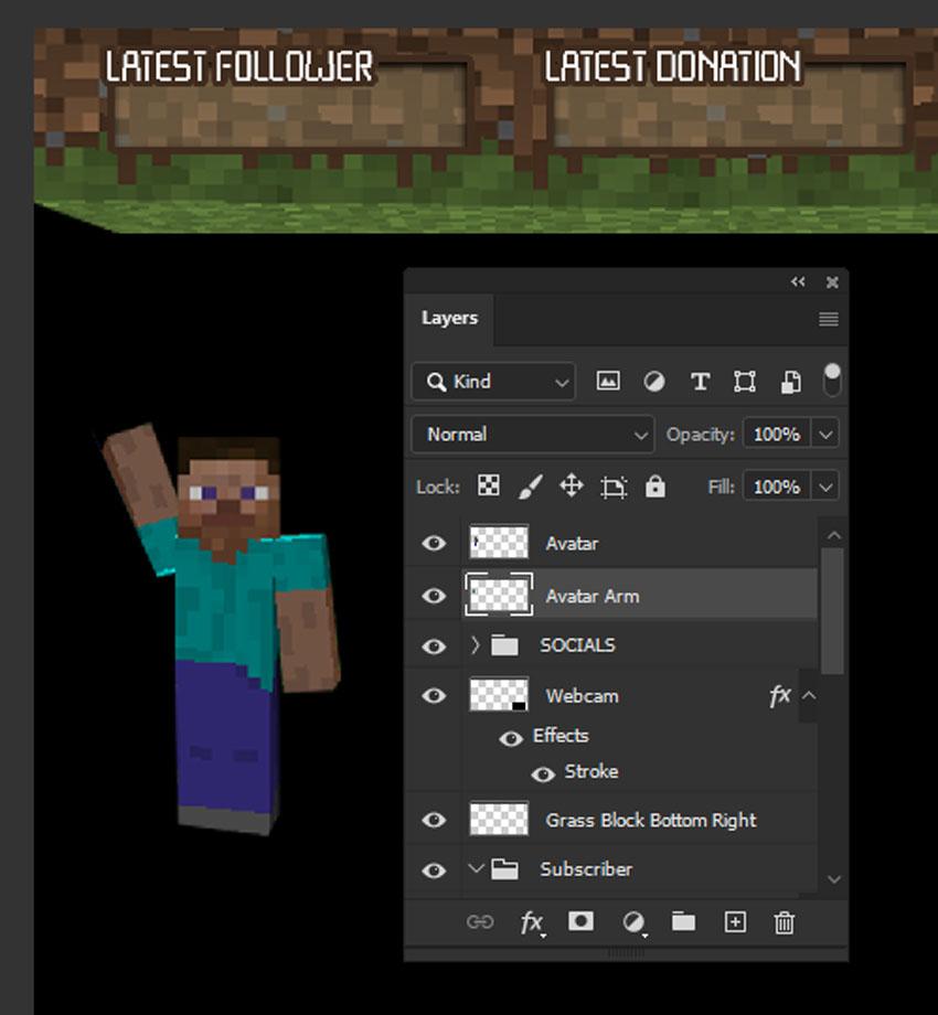 minecraft twitch overlay avatar edit