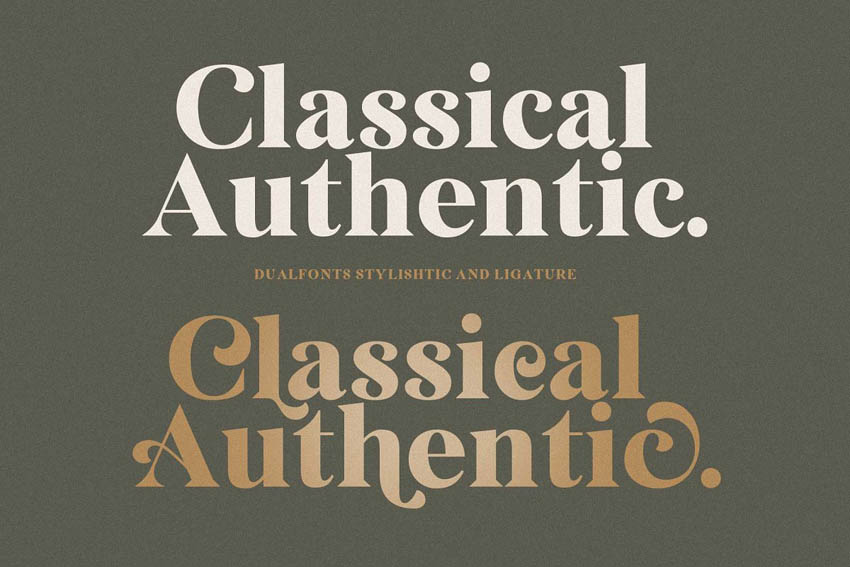 Classical Authentic Didot Style Fonts