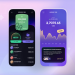 Cryptocurrency mobile app design
