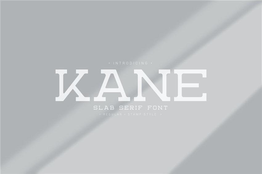 Kane Stylish Slab Typeface