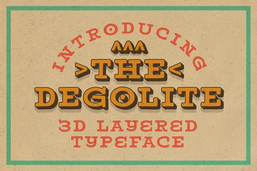 Degolite Layered Slab Font