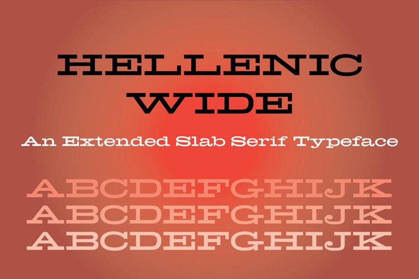 Hellenic Wide Slab Serif Fonts