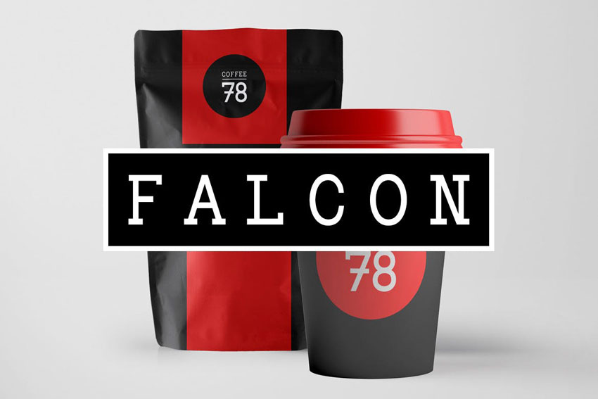Falcon Slab Serif Typeface