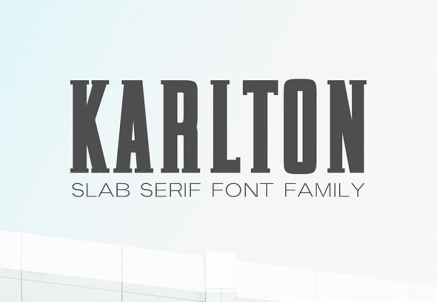 Karlton Slab Serif Font Family