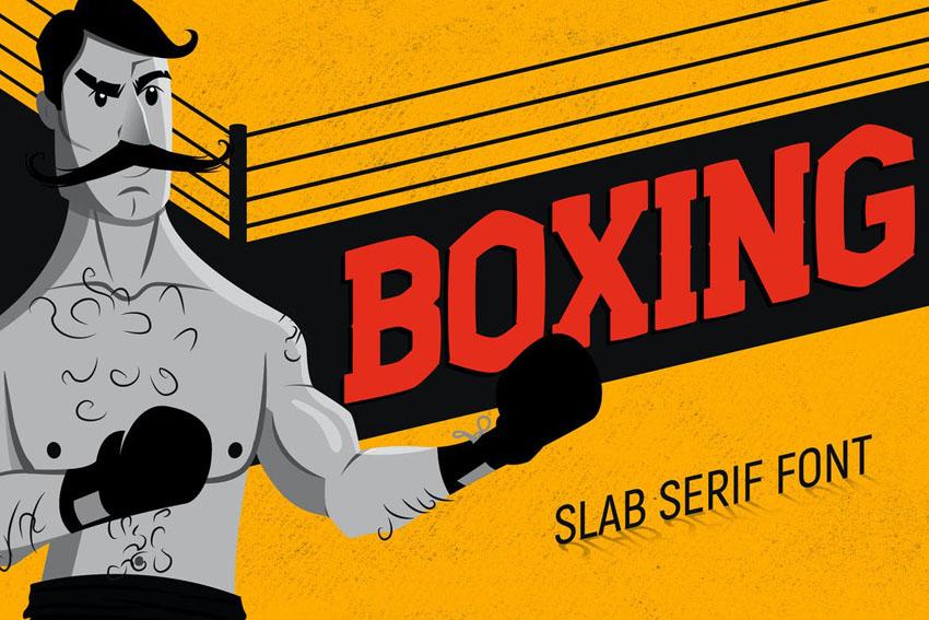 Boxing Slab Serif Font
