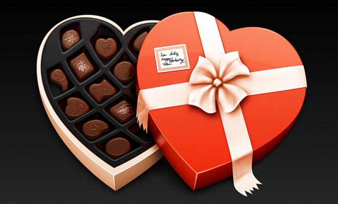 chocolate candy box artwork vector icon