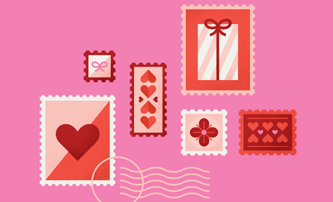 cards notes valentines day icons