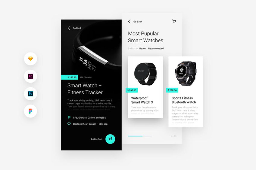 Shopping & Store Mobile iOS & Android UI Kit