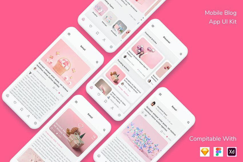 Mobile Blog App UI Kit