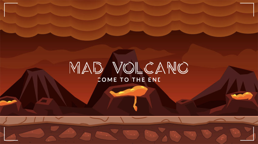 Discord Custom Background with Lava and Volcanoes in the Background
