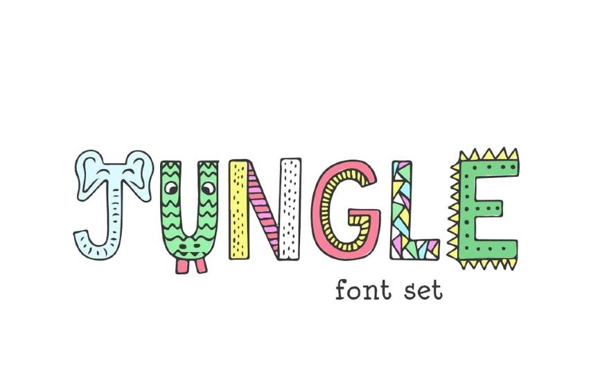 Jungle Color Font