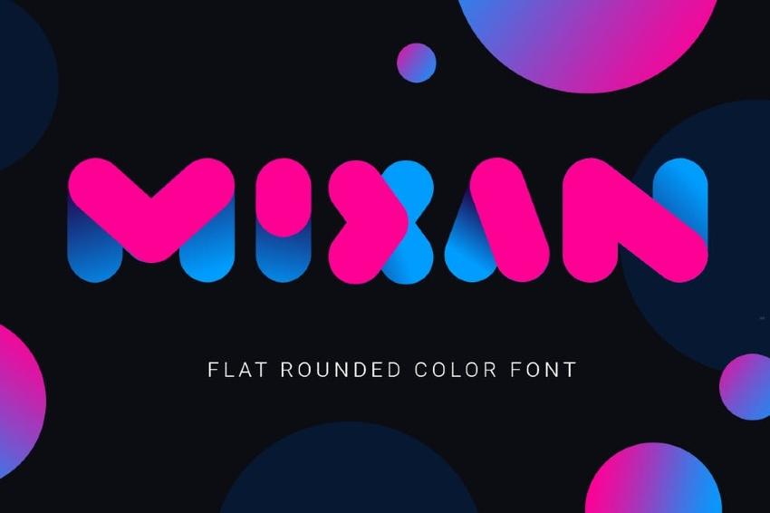 Mixan Bold Color Font
