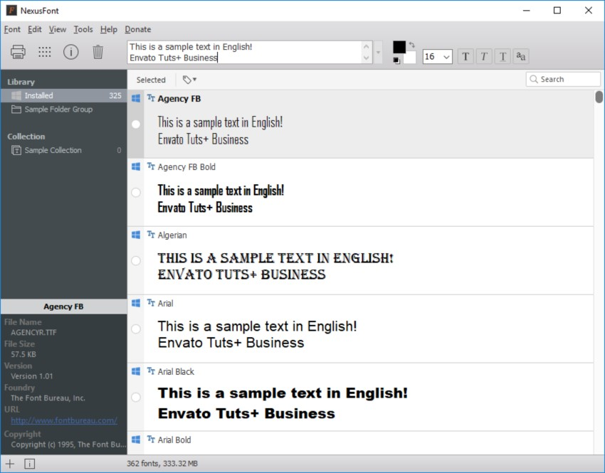NexusFont is free and easy to understand