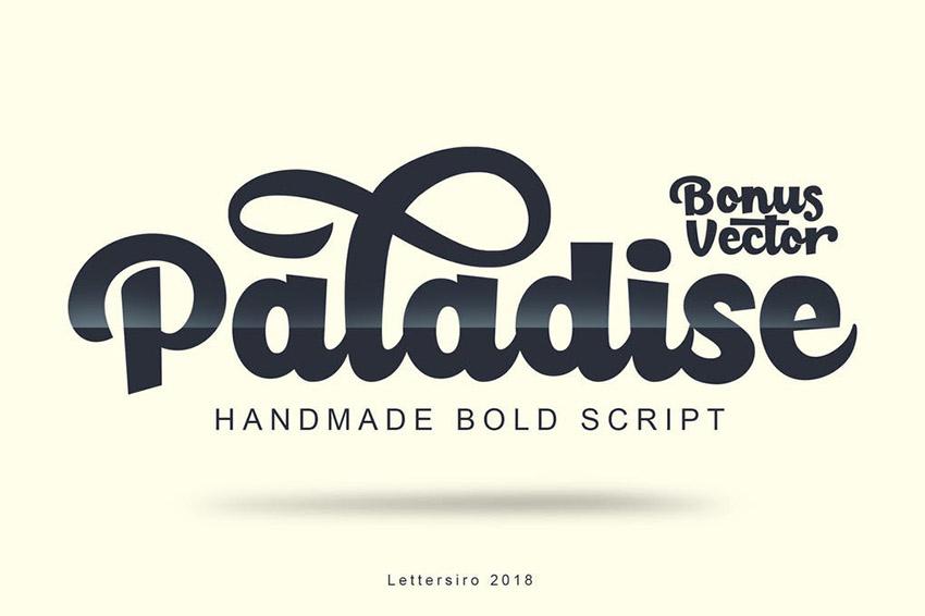 Paladise Sign Lettering Font