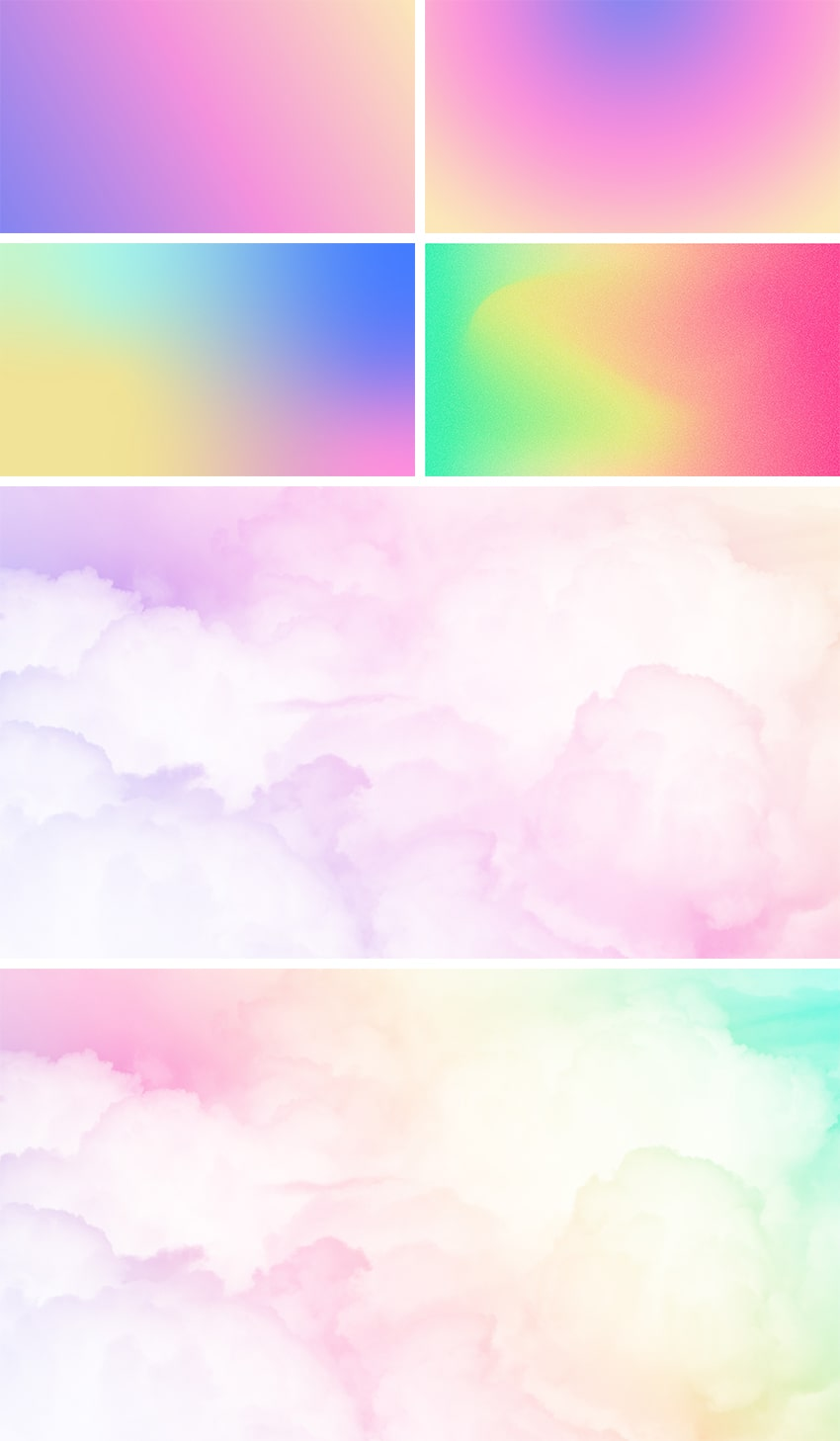 pastel gradient background
