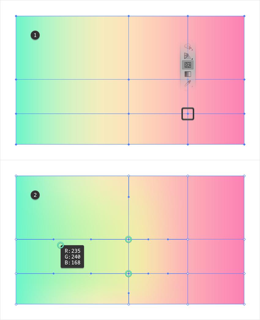 color mesh point