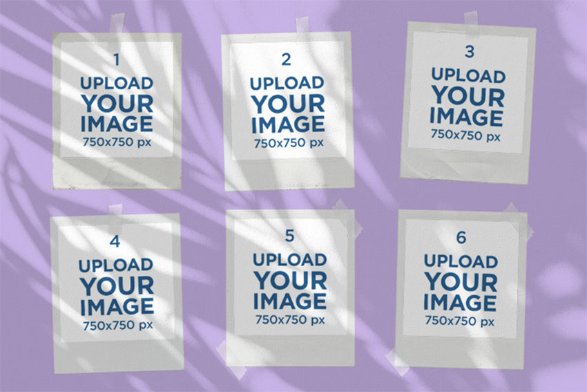Polaroid Collage Photo Template