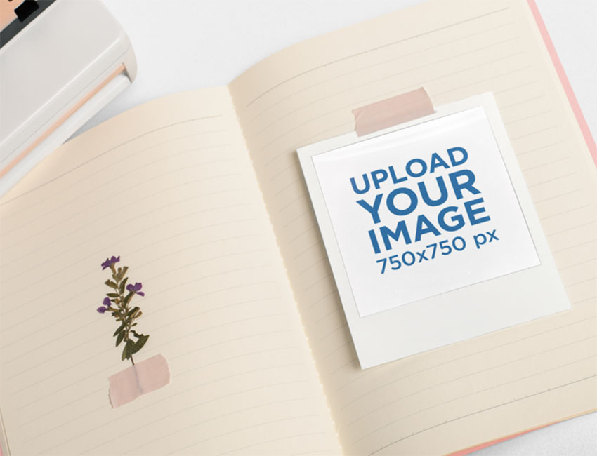 Polaroid Film Template
