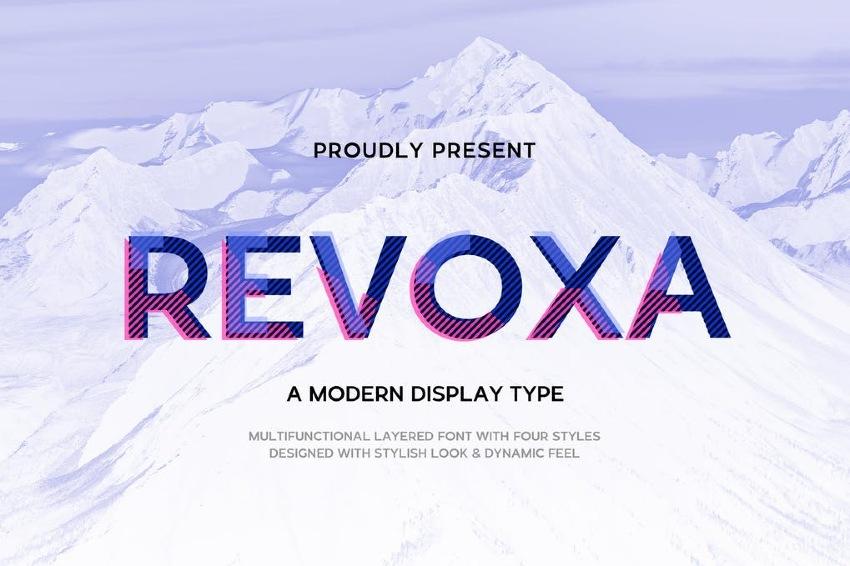 Revoxa - Modern Display Color Font