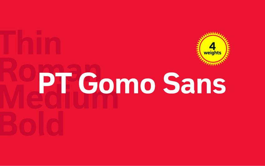 PT Gomo Sans Font