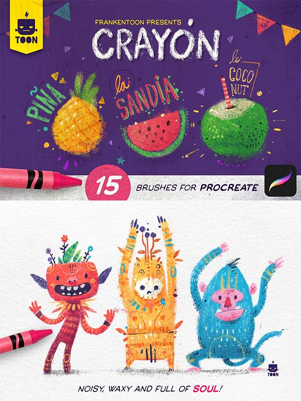 Crayon - Procreate Brush Pack