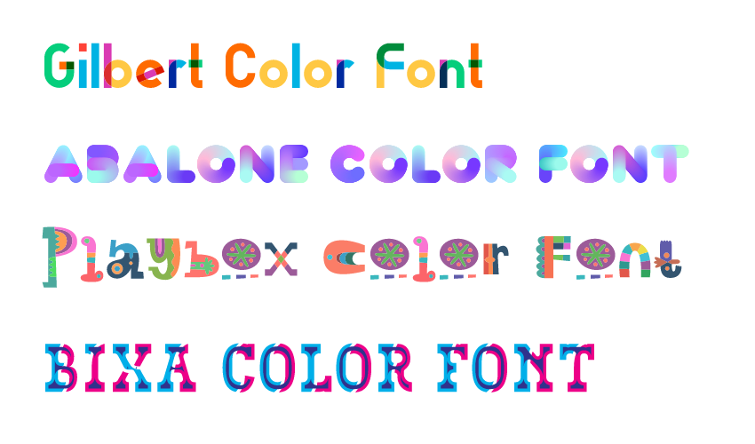 4 free color fonts