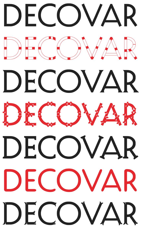 Decovar font variations