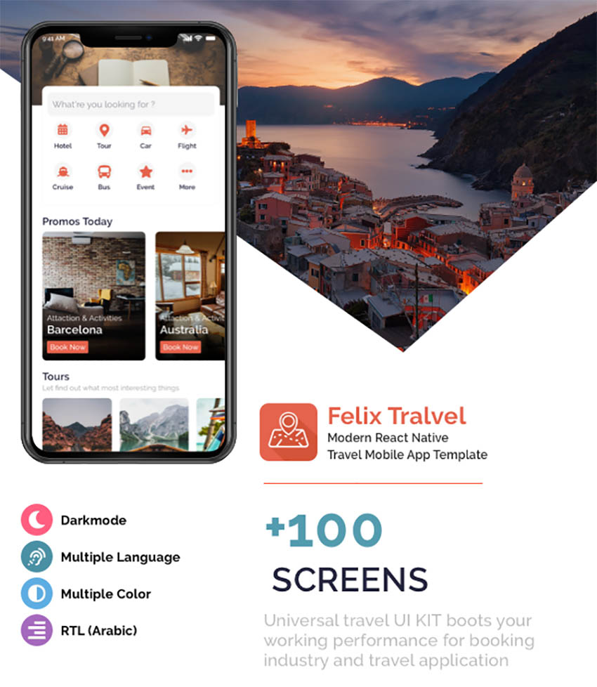 Felix Travel Mobile React Native App Template