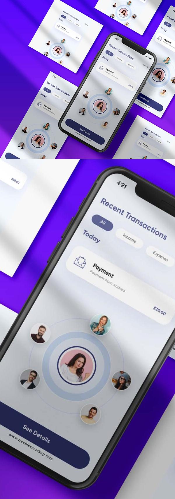 Free Mobile Application Presentation Mockup
