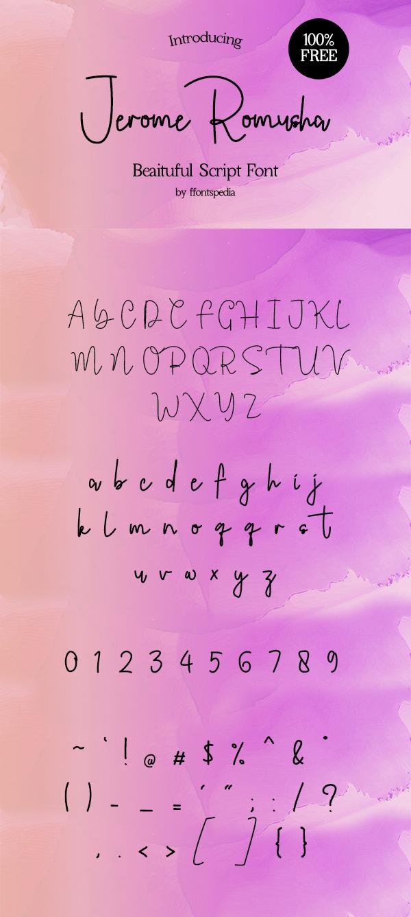 Free Font Jerome Romusha