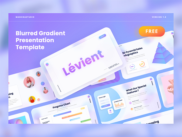 Creative Gradient Powerpoint Template