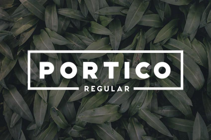 Portico Geometric San Serif Font