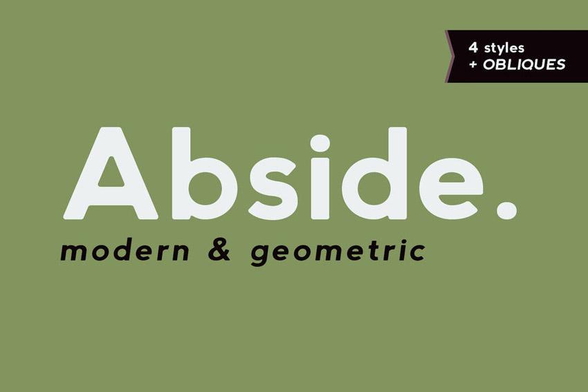 Abside Modern Geometric Font