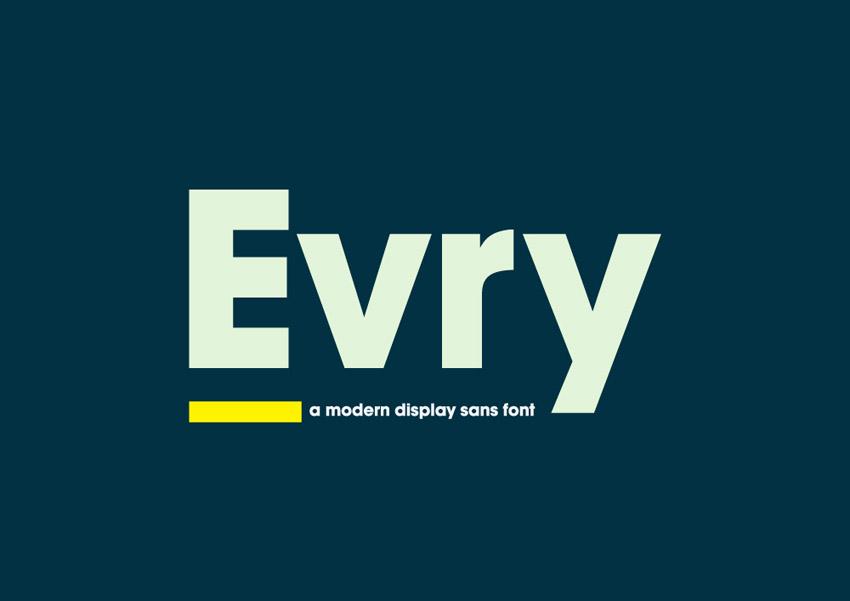 Evry Geometric Display Fonts
