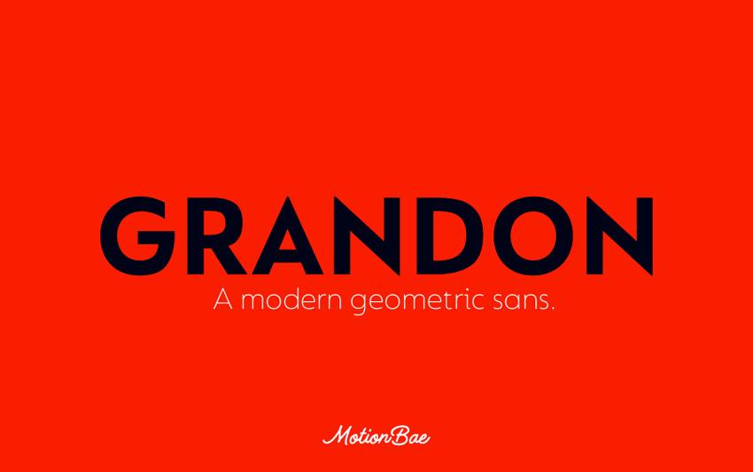 Grandon Geometric San Serif Font