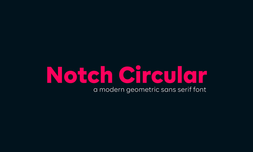 Notch Circular Geometric Sans Serif Font